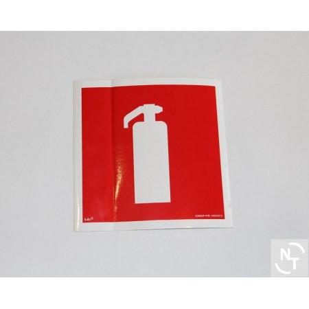 Nalepka GAŚNICA 15x15 cm