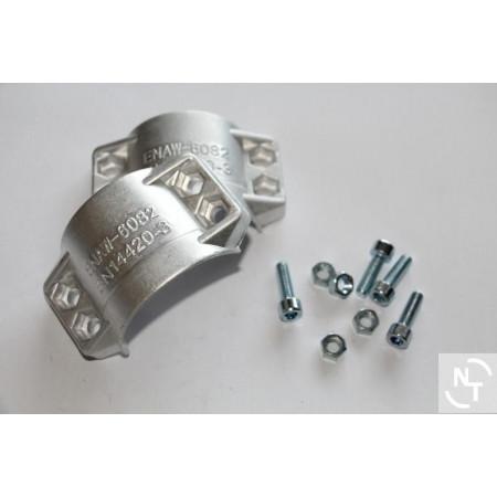 Półpierścień 40x7 (komplet 2 szt. + uchwyty) aluminium