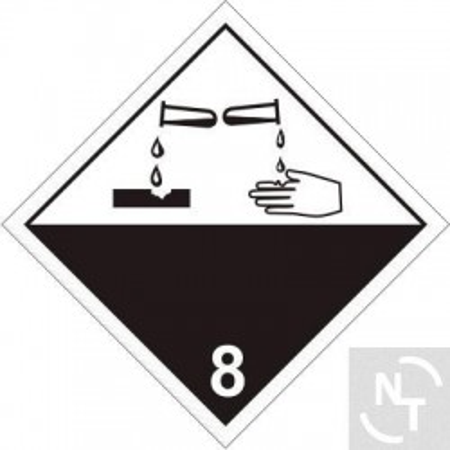 Nalepka ostrzegawcza ADR nr 8 30x30 cm