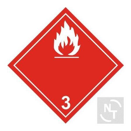 Nalepka ostrzegawcza ADR kl. 3 OGIEŃ B 30x30 cm