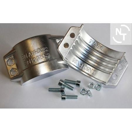 Półpierścień 75x7,5 mm aluminium - obejma typ RS (kpl - 2 szt. + śruby)