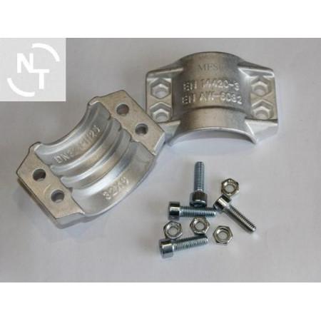 Półpierścień K32x6 (zakres 43-46) aluminium (kpl - 2 szt. + śruby)
