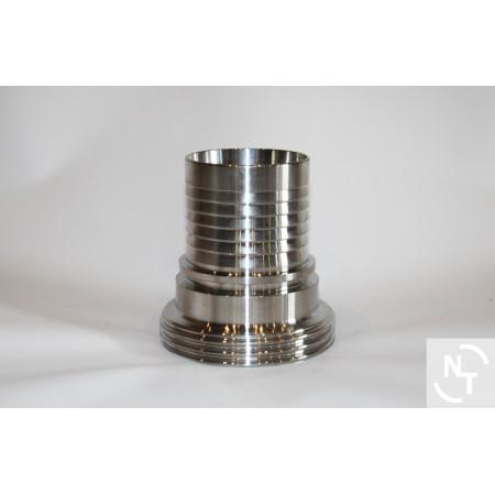"""Złącze spożywcze mleczarskie męskie DIN 11851 DN 65 RD 95x1/6"""" (58x63.5)"""