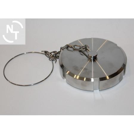 Zaślepka złącza Higienicznego spożywczego DN 80 DIN 11851 z łańcuszkiem