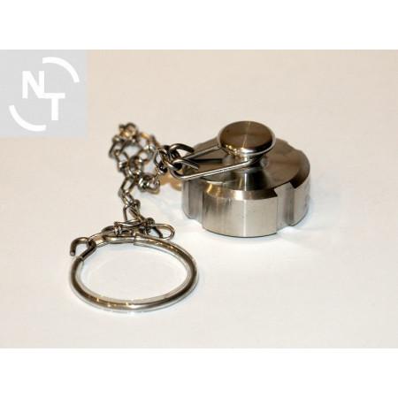 Zaślepka złącza Higienicznego spożywczego DN 15 DIN 11851 z łańcuszkiem