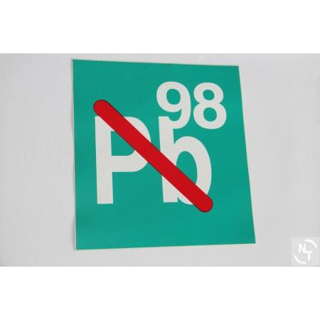 Nalepka dystrybutor PB 98